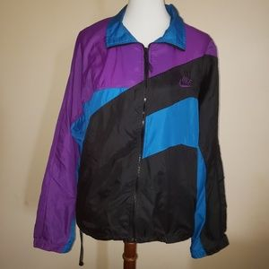 Vtg 90's NIKE Colorblock Windbreaker Jacket sz L